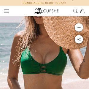 New with tags - Cupshe padded bikini top